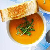Seasonal Soups with Garlic Toast